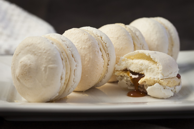 Salted caramel macarons, sweets recipe