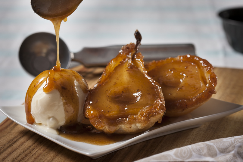Pear Tarte Tatin butterscotch food