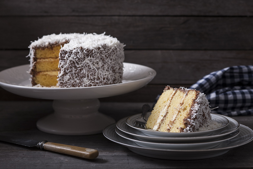 Australian lamington cake for Australia Day