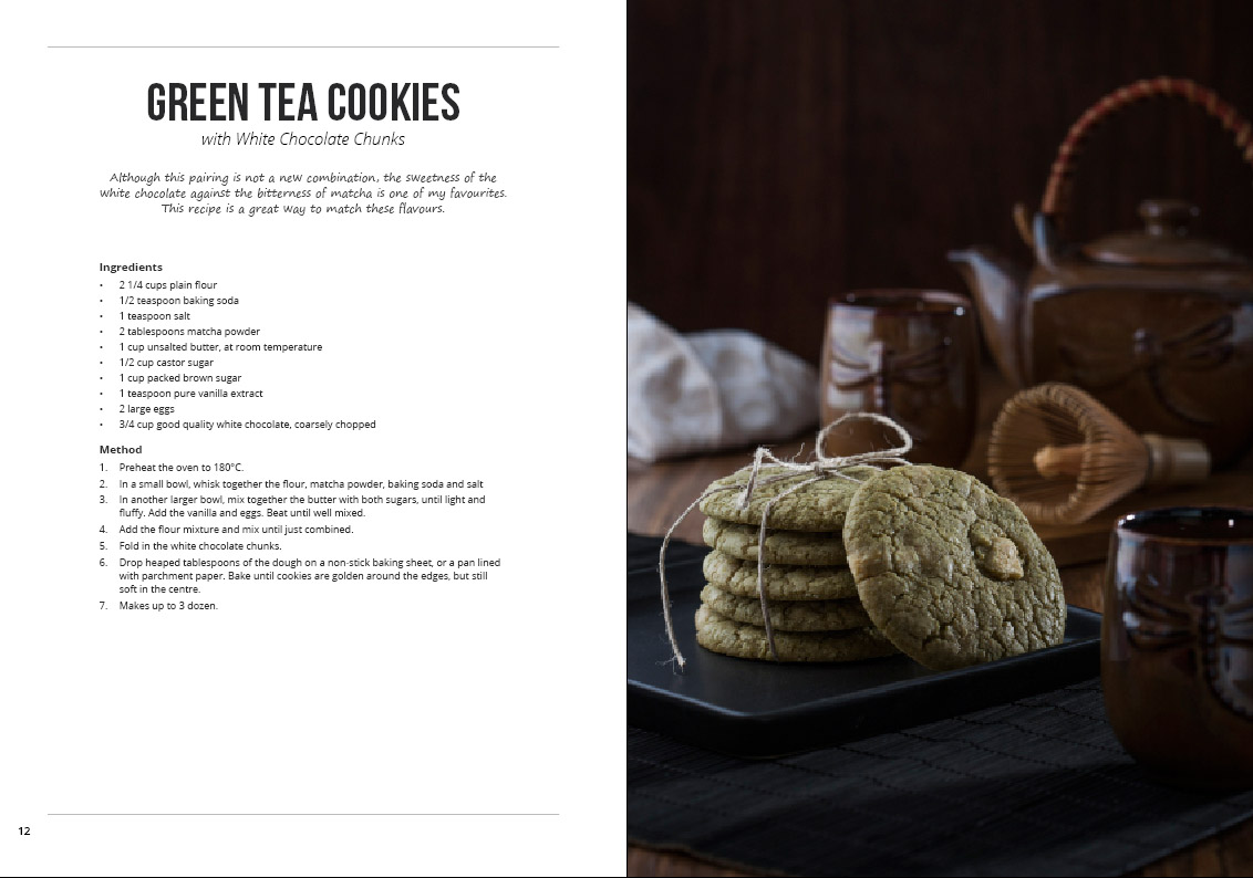 green tea cookies white chocolate