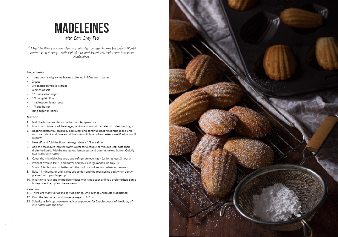 madeleines with earl grey tea
