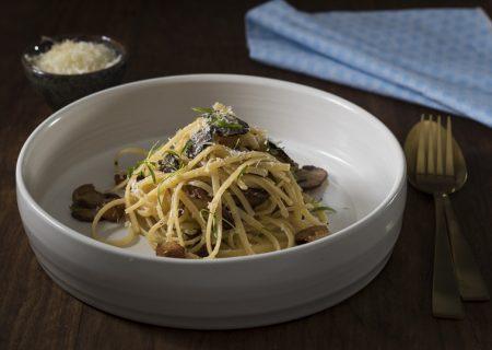 truffle duck fat wild mushroom linguine pasta