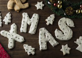 Christmas shortbread cookies / biscuits
