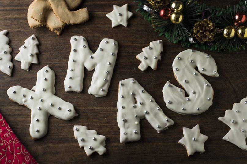 Christmas shortbread cookies / biscuits