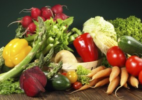 colourful selection of fresh vegetables