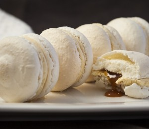 Salted caramel macarons, sweets recipe