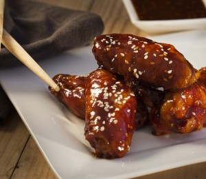 Korean Spicy Chicken Wings. Made in a variety of heat levels.