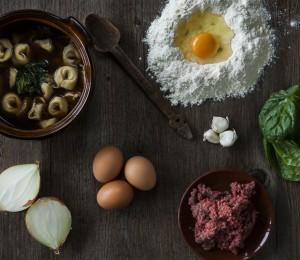 Tortellini pasta ingredients