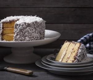Australian lamington cake for Australia Day