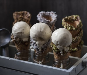 No churn gelato with three ingredients