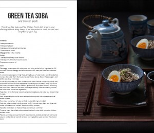 green tea soba noodles with chicken broth