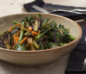Stir-fry with Kalettes and Thai ginger flavours