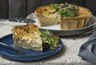 Recipe for leek and bacon quiche